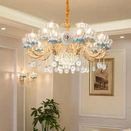 $enCountryForm.capitalKeyWord UK - Luxury Crystal chandelier for Living Room Classic Crystal Chandelier Light Fixtures Bedroom Gold Lamp LED Crystal Lamp Ceiling Pendant Lamp