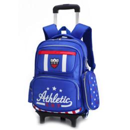 $enCountryForm.capitalKeyWord Australia - Trolley School Bag Pull-rod Schoolbag 2-5 Grade Boy Backpack Kids Bags Children Wheeled Travel Bags Backpack with Wheels