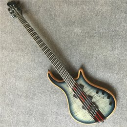 Discount neck through bass guitar - Free shipping,6 - string bass guitar, 6 - string bass, neck through the body, free of freight, customizable