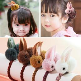 Felt Hair Children Australia - New Cute Animals Rabbit Style Hair Bands Felt Three-Dimensional Plush Rabbit Ears Headband For Children Girls Hair Accessories GB158