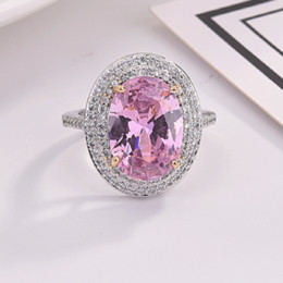 $enCountryForm.capitalKeyWord Australia - New Design Hot Sale Fashion Exquisite Pink Geometric Round Edge Square Ring Ladies Jewelry Gift Ladies Jewelry Accessorie