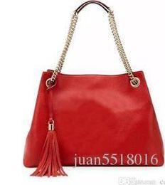 Crochet Tassel Bag NZ - Red   Black Large Handbags Nicewomen Bag Fashion Pu Leather Woman Shoulder Bag Casual Tassel Tote Bags Sac A Main Femme Bolsa Feminina Couro