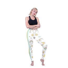$enCountryForm.capitalKeyWord NZ - Woman Leggings Cute Rainbow Sun Star 3D Digital Full Printed Fitness Pencil Pants Lady Gym Sport Jeggings Girl Stretchy Yoga Pants (Y52237)