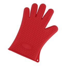 grills cooking UK - Silicone Kitchen Grilling Glove for Cooking, Heat Resistant, Baking Tool BBQ Oven Pot Holder Mitt