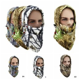 $enCountryForm.capitalKeyWord Australia - 4 Colors Fleece Camo Neck Face Cover Balaclava Hat Cold Weather Hunting Ski Face Mask Outdoor Hats Party Hats CCA10825 36pcs