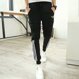 $enCountryForm.capitalKeyWord NZ - Wholesale-New 2016 Tracksuit Bottoms: Fashion Cuffed Men Jogger Pants Casual Skinny Joggers Harem Sweatpants Track Training Trousers