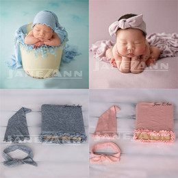 $enCountryForm.capitalKeyWord Australia - Jane Z Ann Baby Photo Props Newborn Photography Wraps+hat+headband Baby Photoshoot Picture Props DIY Baby Album GiftMX190917