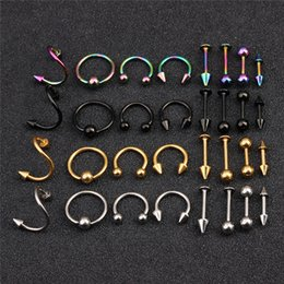 $enCountryForm.capitalKeyWord NZ - Spiral fake Nose Rings Earring Stud septum Piercing for Women Men Fashion Pircing Nariz Piercing earring 16pcs