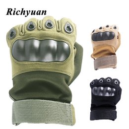 $enCountryForm.capitalKeyWord Australia - Touch screen Motorcycle Full Finger Gloves Skidproof Hard Knuckle Protective Gear for Outdoor Sports Gloves Racing Motocross ATV