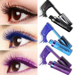 Volume up mascara online shopping - Black Green Mascara Waterproof Eyelashes Curling Lengthening Makeup Colorful Pigment Volume Eyes Make Up Purple Mascara