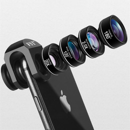 $enCountryForm.capitalKeyWord Australia - High quality 4 in 1 Camera Phone Lenses Wide macro Fisheye Telephoto wide Lens for iPhone x xiaomi huawei smartphone