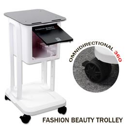 $enCountryForm.capitalKeyWord Australia - Professional salon beauty machine trolley cart fashion beauty omnidirectional 360 trolley stand rolling movable carts for salon equipment