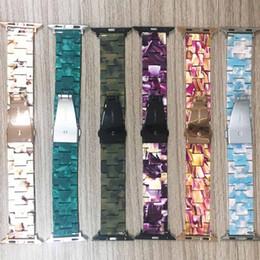 CeramiC braCelet watCh band online shopping - Imitation Ceramic Strap Band for Apple Watch mm Iwatch Bracelet Wrist Resin Belt Watch Accessories Watchband