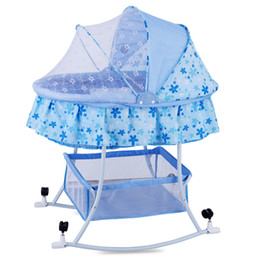 $enCountryForm.capitalKeyWord Australia - Large European Baby Cradle Bed Game Bed with Mosquito Net Baby Sleeping Bassinet0-24Mouth Infant Swing