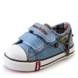 Wide Canvas Shoes Australia - Canvas Shoes 2018 Spring Denim Canvas Boys Girls Sneakers Baby Schoenen Kids Sports Shoes Breathable Running Shoes For Children Y190525