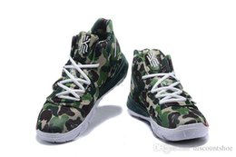 Neon Green Fabric Canada - Free Phipping Kyries Men 5 BHM CNY Green Camo Bred Concepts Ikhet Neon Blends Taco Basketball Shoes Mens Kyries BHM 5 Sneakers With Box