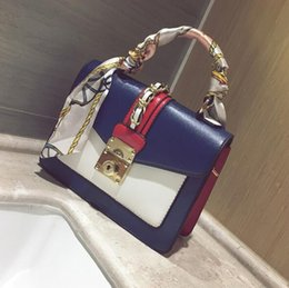 factory outlet handbags NZ - factory outlet brand package fashion scarves portable small bag street shot the same type of hit color handbags elegant stitching leather ha