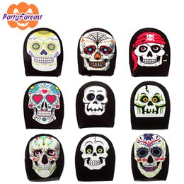 $enCountryForm.capitalKeyWord NZ - PF Halloween Party Mask Skull Skeleton Pumpkin Scary Full Face Fabric Masks for Women Men Masquerade Horro Decoration Accessory