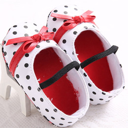 Discount foreign shoes - Foreign trade female baby spring and autumn bow princess baby toddler shoes