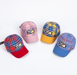 $enCountryForm.capitalKeyWord UK - Kids Plaid Hat Baseball Cap Letter Printed Hats Snapbacks Caps Summer Sunhat Fashion Hip Hop Cap Baby Outdoor Hat GGA1969