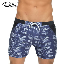 swimwear big sizes NZ - Taddlee Brand Men Swimwear Swimsuits Beach Board Surfing Shorts Plus Big Size Traditional XXL Basic Swim Boxer Trunks Bath Suits