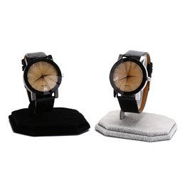 Wholesale 1 PC Velvet C Type Design Jewelry Stand Bracelet Holder Bangle Watch Display Rack Grey White New