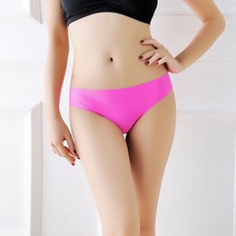 96c348caba93 women clothes Thong Ice Silk Summer Sexy Seamless designer Panty Low rise G- string Ultra thin lady Underwear sexy lingeries panties dropship