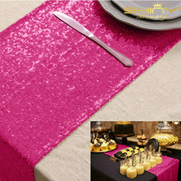 $enCountryForm.capitalKeyWord NZ - ShinyBeauty 12x72 Inch Rectanglar fuchsia Sequin Table Runner Glitz Table Runners 30x180cm Photography Runners Linen For Wedding Decor-c