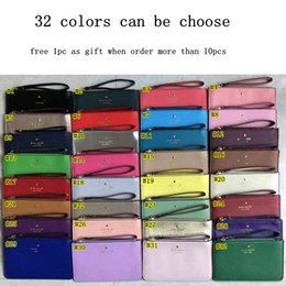 Coin purses women online shopping - brand designer women leather wallets wristlet women purses clutch bags zipper Card Cash Coin Pouch colors MMA1733