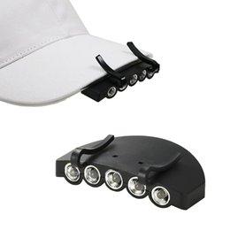 Led brim hat online shopping - LED baseball hat Cap Light LED Under the Brim Cap Hat Clip Lamp Headlight Headlamp for Hunting Fishing Hiking