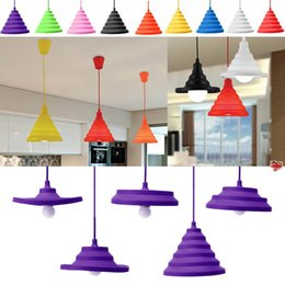 $enCountryForm.capitalKeyWord Australia - Silicone LED Pendant Lights E27 DIY Design Changeable lampshade Colorful led Lamps for Home Restaurant Bar Decoration lighting
