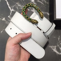 $enCountryForm.capitalKeyWord Australia - Designer Casual Leather Belts Luxury Jeans White Waistbands with Box Copper U-Type Buckle Women Fashion Dress Girdle Shorts Leather Belts