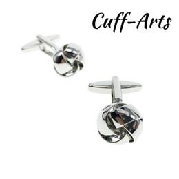 $enCountryForm.capitalKeyWord UK - Cufflinks for Men Knot Cufflinks For Men Fashion Knot Design Top Quality Brass Hotsale With Gift Box By Cuffarts C20078