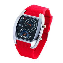 Elektronische Flieger-Herrenmode des Blockbuster LED Mode-Sektor Armaturenbrett kreative Uhr Silikagel Digitaluhr Fabrik Direktverkauf