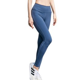 Plus Size Yoga Pants UK - Yoga Clothes Sweat Absorbing Quick Drying Outdoor Running Yoga Pants Sexy Fitness Gym Fitness Leggings For Women Workout Trousers 40