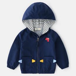 b41d0838ea37 Spring 2019 new boys Coat Boys jacket long sleeve hooded Kids Jackets  Children Outwear kids designer clothes Boutique Boys Clothing A2921