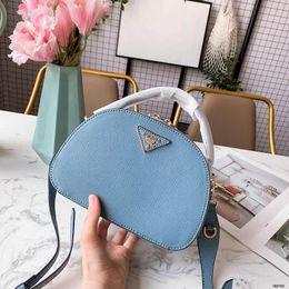 Ladies Handbag Fabric Australia - 2019 Womens Luxury Designer Top Handle Handbags Light Blue White Grey Leather Lady Fashion Shoulder Bags Dress Totes With box