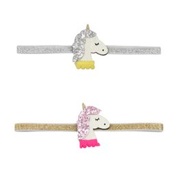 $enCountryForm.capitalKeyWord Australia - unicorn hair bows for kids fashion sequins designer hairbands for baby leather hot sale unicorn headbands children cute hair accessories