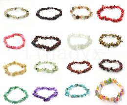 Crystal Chips NZ - Natural Healing Crystal Sodalite Chip Gemstone Stretch Bracelet Natural Mixed Gemstone Chakra Fashion Bracelet Lover Bracelets dc442