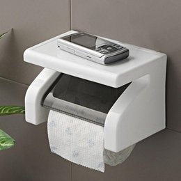 Toilet Paper Roll Holder Plastic Australia - Durable Waterproof Toilet Paper Plastic Holder Tissue Holder Roll Paper Holder Box Bathroom Accessories Wall Mounted