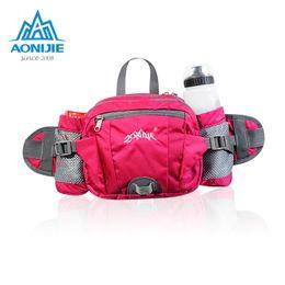 big money bag 2019 - AONIJIE Sports Nylon Waist Bag Running Belt Big Storage Money Pouch Travel Cycling Fanny Pack with Bottle Holder cheap b