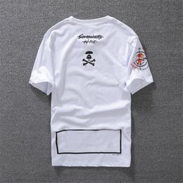 Orange Cotton Australia - T-shirt for Mens Designer Shirt Black White Orange Size S-XXL Cotton Blend Crew Neck Short Sleeve Cartoon Print