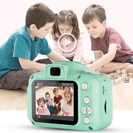 Telescopic Digital Cameras NZ - 2 Inch HD Screen Chargable Digital Mini Camera Kids Cartoon Cute Camera Toys Outdoor Photography Props for Child Birthday Gift Free shippin