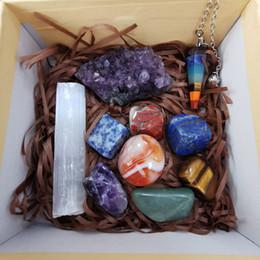 venda por atacado Atacado chakra pedras de cura chakra pedras definir holística pedras de cura energética cristal cascalho Chakra cura Tombado Pedra