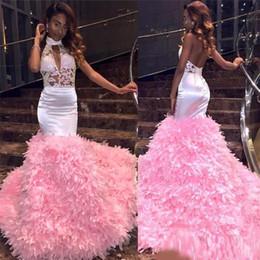 $enCountryForm.capitalKeyWord Australia - 2019 Pink Sleeveless Black Girls Prom Dress Mermaid Formal Pageant Holidays Wear Graduation Evening Party Gown Custom Made Plus Size