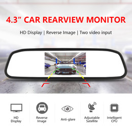 $enCountryForm.capitalKeyWord NZ - Chinatown68 HD car display 4.3 inch car monitor for rear view camera reverse image Parking Assistance 2 Video Input Parking Mirror