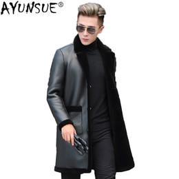 $enCountryForm.capitalKeyWord NZ - AYUNSUE Real Wool Fur Coat Men Sheep Shearing Winter Male Jacket Korean Thick Long Coat Men's Leather Jacket Blazer KJ1611