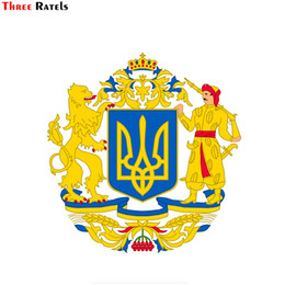 Armed windows online shopping - Three ratels FTC national flag national emblem coat of arms of Ukraine window wall auto car sticker decal PVC waterproof