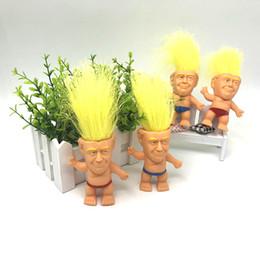 $enCountryForm.capitalKeyWord Australia - Hot new 3.15 inch Action Figures Doll Long Hair Troll Doll Leprechauns Electioneering President Donald Trump Model WCW554