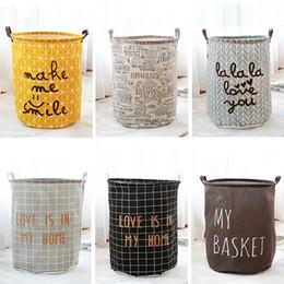 Caixas de armazenamento de armazenamento de grande variedade de estilo de pano de armazenamento dos desenhos animados cesta de armazenamento grande dobrável à prova d 'água dobrável venda por atacado